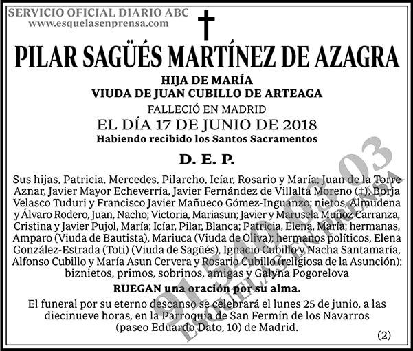 Pilar Sagüés Martínez de Azagra